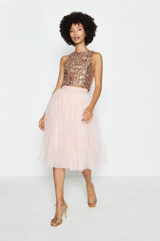 Blush Tulle Short Skirt