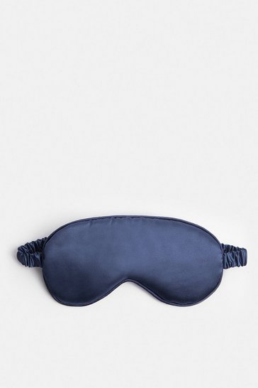 Navy Satin Eye Mask