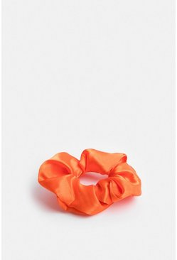Orange Satin Scrunchie