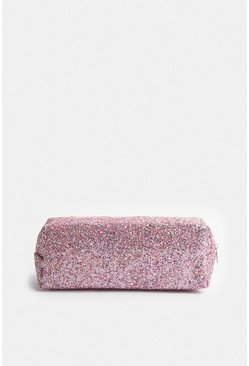 Rose Glitter Make Up Bag