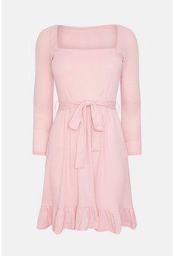 Blush Jersey Flippy Hem Dress