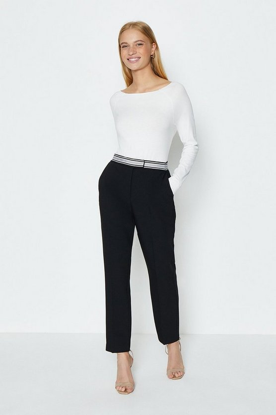Black Stretch Cigarette Trouser