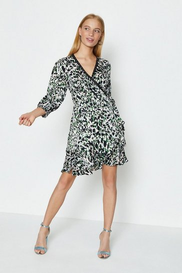 Mono Wrap Front Mini Dress