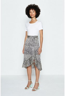 Multi Animal Print Skirt