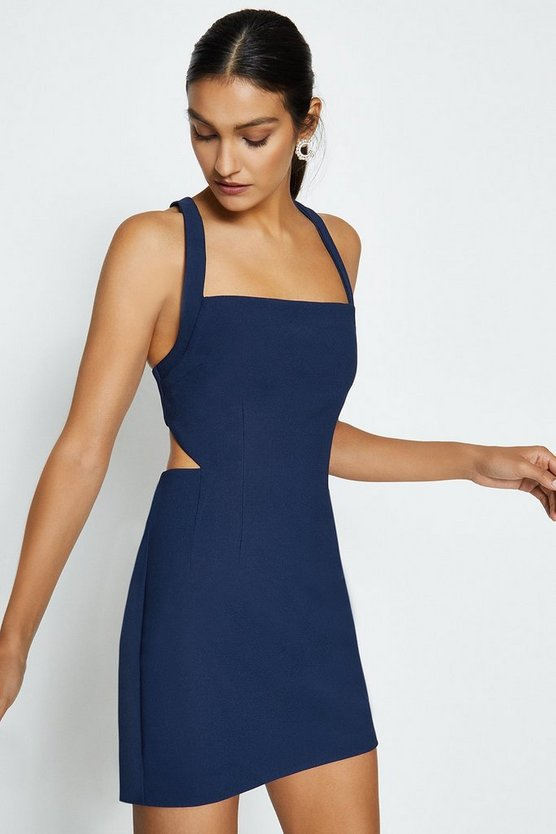 Navy Cross Back Mini Dress