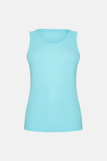 Aqua Sleeveless T-Shirt