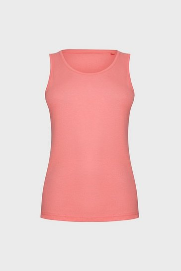 Coral Sleeveless T-Shirt