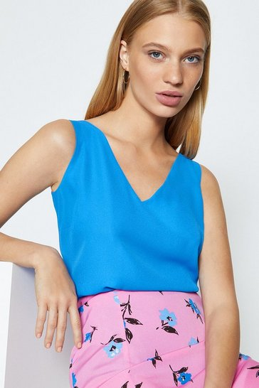 Cobalt V Neck Cami Top
