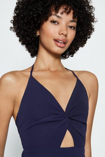 Navy Cut Out Maxi Dress