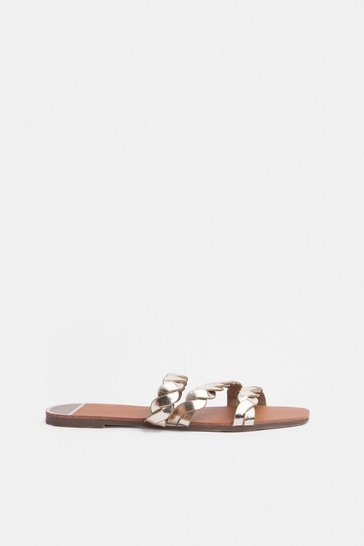 Gold Corded Flat Sandal