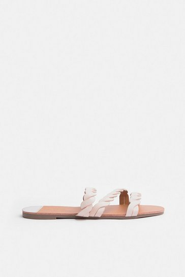 Pink Corded Flat Sandal