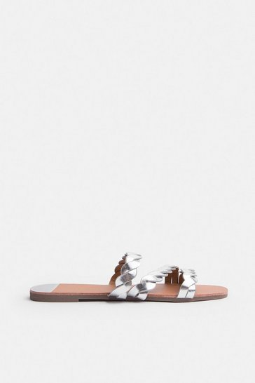 Silver Corded Flat Sandal