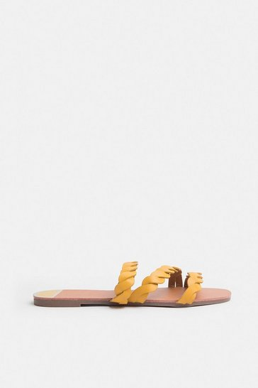 Yellow Corded Flat Sandal