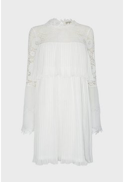 Ivory Lace Sleeve Dress