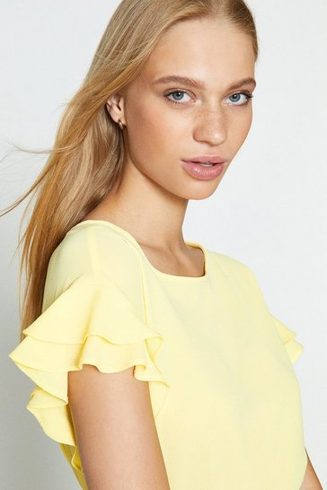 Lemon Short Sleeve Woven Front T-Shirt