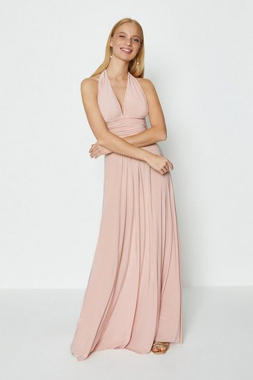 Blush Halter Neck Maxi Dress