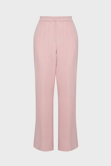 Blush Compact Crepe Trousers
