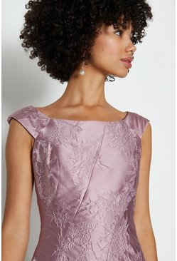 Blush Jacquard Twist Seam Dress