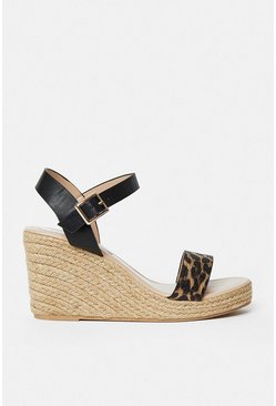 Animal Strap Wedges