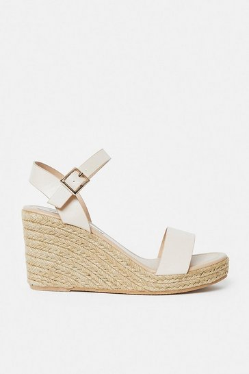 Nude Strap Wedges