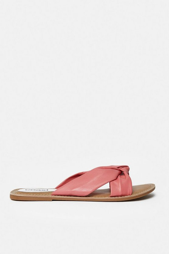 Coral Knot Front Flat Sandal