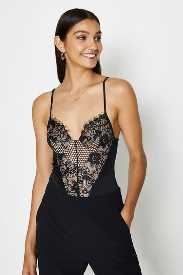 Black Lace Detail Body