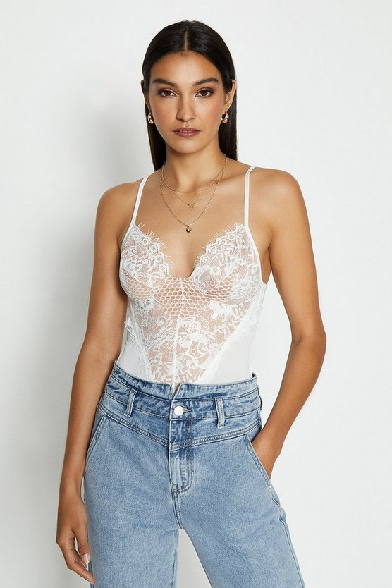 White Lace Detail Body