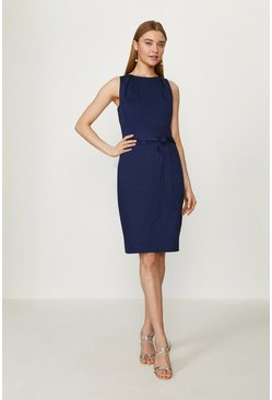 Navy Cotton Shift Dress