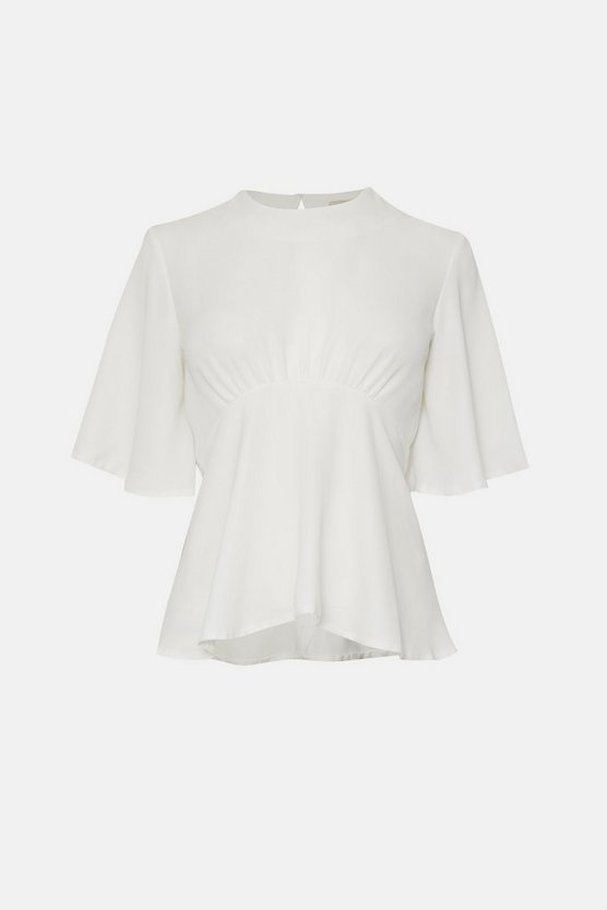 Ivory Flare Sleeve Top