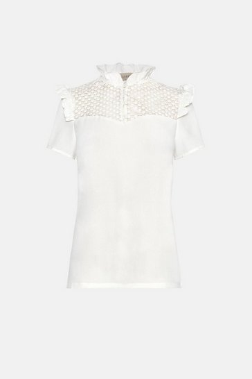 Ivory Lace Cap Sleeve Top