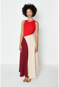 Blush Colour Block Midi Dress
