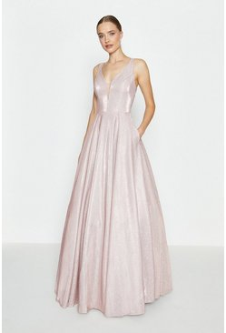 Blush Hotfix Back Maxi Dress