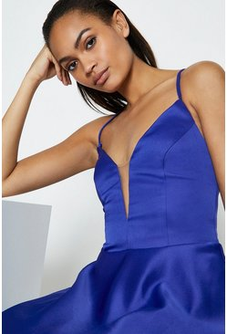 Cobalt Strappy Tie Back Maxi Dress