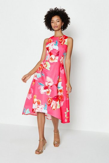Pink Twill Hi Low Dress