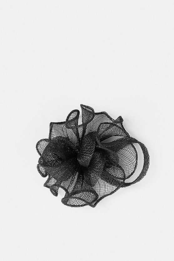 Black Pleated Mini Clip