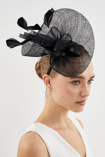 Black Embellished Fascinator
