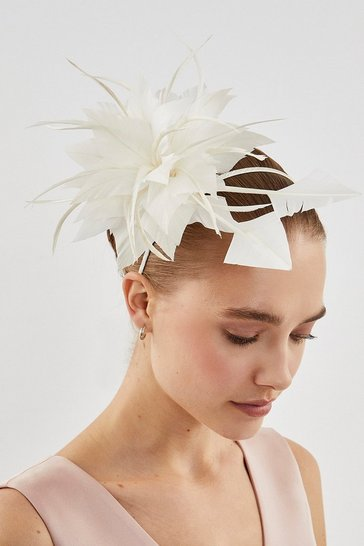 Ivory Statement Feather Fascinator