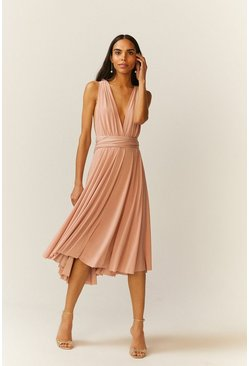 Blush Multiway Jersey Midi Dress