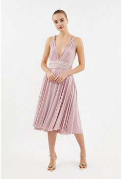 Dusky pink Multiway Jersey Midi Dress