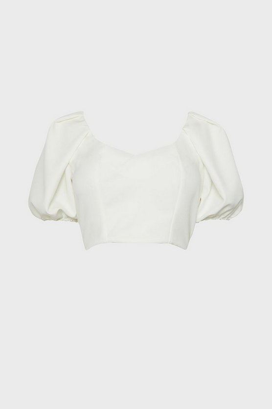 Ivory Statement Sleeve Outfitter Top