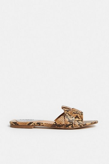 Animal Interlock Flat Mule