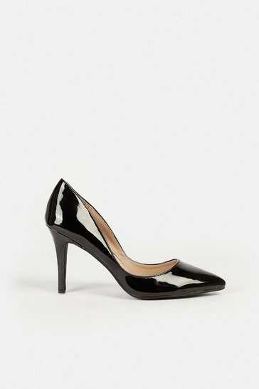 Black Patent Court Shoe