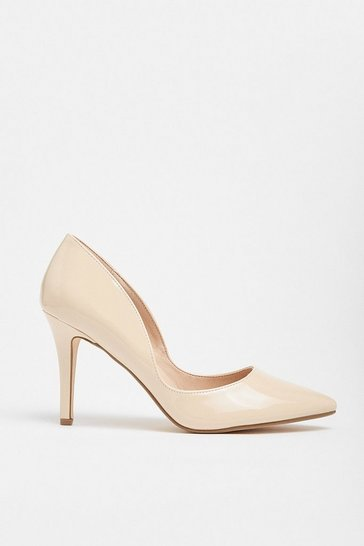Blush Patent Court Shoe