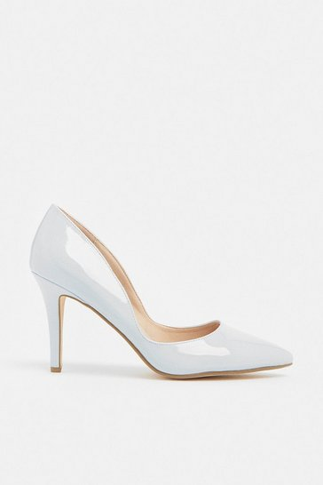 Light blue Patent Court Shoe