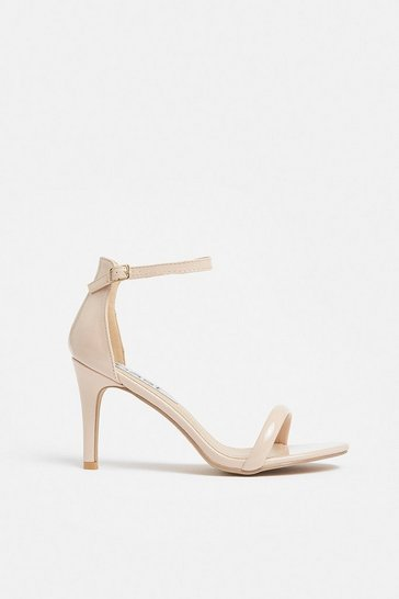 Nude Patent Strappy Sandal