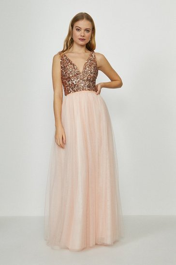 Blush Tulle Maxi Skirt