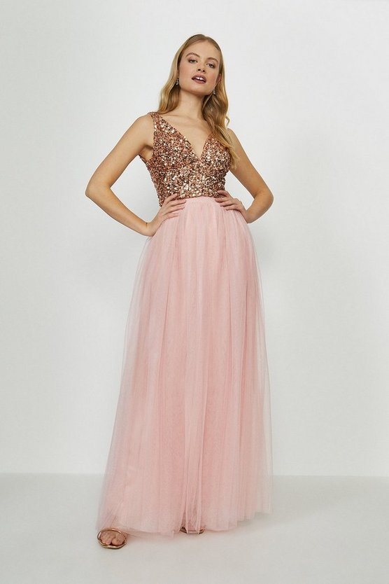 Pink Tulle Maxi Skirt