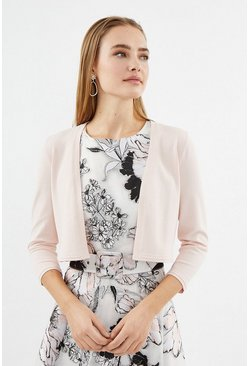 Blush Cropped Bolero Cardigan