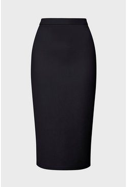 Black Scuba Bodycon Skirt