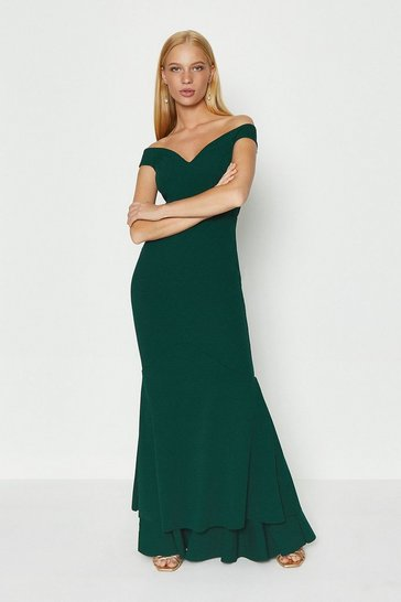 Forest Fishtail Maxi Dress